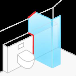 душевая кабина со стеклянными дверцами