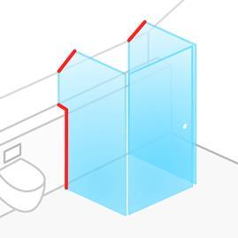 дверь для душевой кабины стеклянная купить