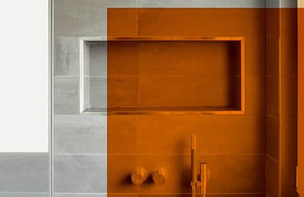 Цветное стекло для душевых кабин, стенок и дверей